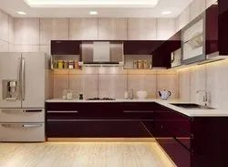 L Shape Modular Kitchen Interior Designing Service