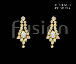 Traditional Kundan Antique Earrings