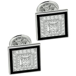 Square Shape Diamond Cufflink
