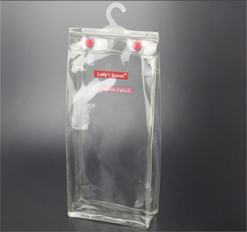 White PVC Transparent Hanger And Button Bag, Size: 7 x 10 Inches