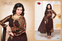 Round Neck Mafeeza Salwar Suit