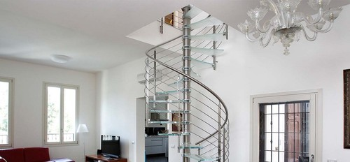 Bar Stainless Steel Spiral Railing