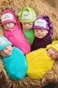 Organic Cotton Unisex Newborn Baby Dress, 5 Items