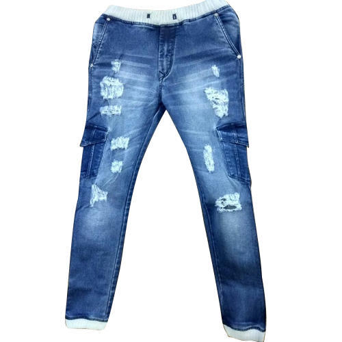 Blue Rugged Denim Jeans