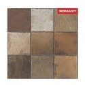 Somany T40404236 11.5 Mm Caja Brown Stone Floor Tile, Size: 400 X 400 Mm
