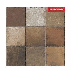 Somany T40404236 11.5 mm Caja棕色石材地砖,尺寸:400 × 400 mm