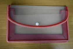 Classik Plastic Button File Folder Natural Matt Matt Finish 0.40 mm with Twin Colour Piping _619