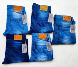 Faded Ankal with tape Mens Denim Jeans