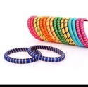 Multicolour stylish silk Thread Bangle for any occasion
