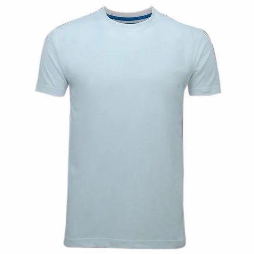 eaed57749045 Men's Cotton Half Sleeves White Plain T-Shirt, Rs 90 /piece | ID ...