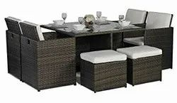 Carry Bird Wicker Outdoor And Indoor Furniture Cube Dinning Table, Set Size: Set of 6, for Home