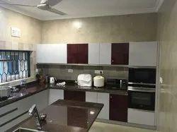 U Shape Wooden Kitchen Interior Design, Warranty: 10-15 Years