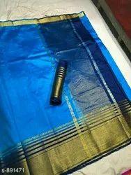 S891471 Tussar Silk Sarees With Blouse Piece