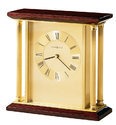 Wooden Style Brass Table Clock