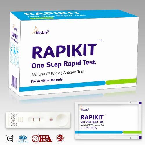 Plastic Rapid Malaria Antigen Test Card for Laboratory