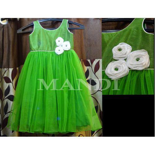 a65ecadd01d6 MANDI Green Girls Fancy Frock