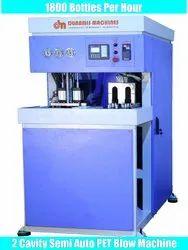 2 Cavity Semi Automatic PET Blow Machine 1800 BPH