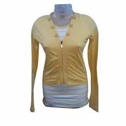 Cotton Ladies Trendy Full Sleeve Top, Packaging Type: Plastic Packet