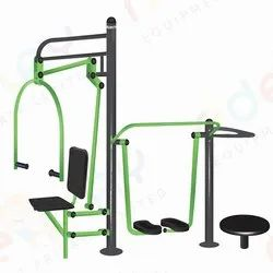 Chest Press with Air Walker and Standing Twister
