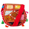Mirror Work Red Shoulder Bag