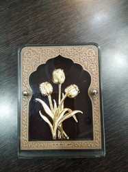 Flower Gold Leaf Frame 24 Kt