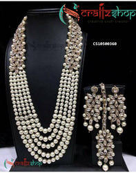 CraftzShop Bridal Kundan Jewellery Set