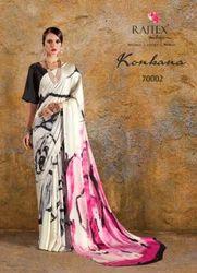 Casual Wear Silk Crepe Saree