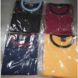 Multi-color Cotton Round Neck T-Shirt