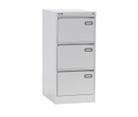 "C2 Gray Metal Inbuilt Handle 3 Drawer Vertical Filling Cabinet, Size: 42""x18""x24"""