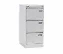 Metal Inbuilt Handle 3 Drawer Vertical Filling Cabinet
