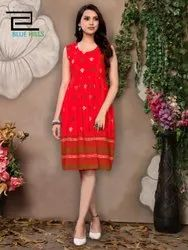 Frock Style Ladies Rayon Dress