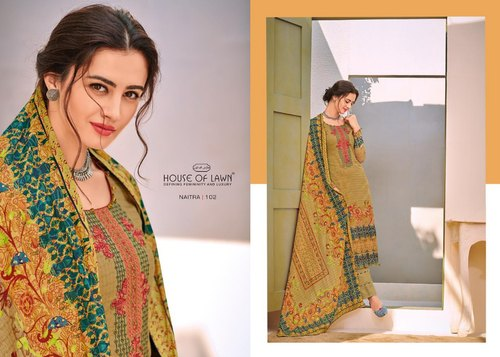 a2b50d78cc 675 JAM SATIN HOUSE OF LAWN NAITRA JAM SILK FABRIC SUITS, Rs 675 ...