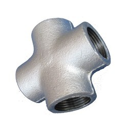 4 Way GI Cross Tee, for Structure Pipe, Size: 1/2 Inch