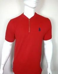 Mens Polo Zipper T Shirt