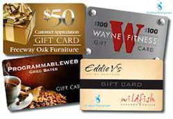 Rectangle Gift Cards - Plastic PVC