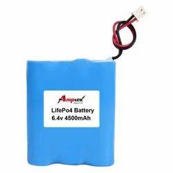 Lifepo4 Battery Pack 6.4V 4500 Mah