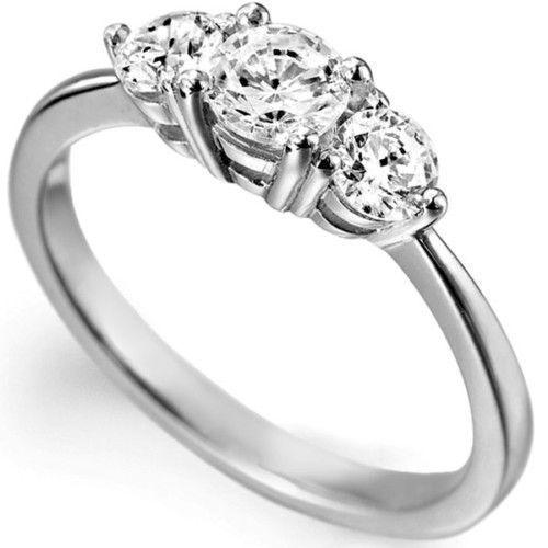 Fancy Three Diamonds Ring at Rs 51600 piece Heere Ki Angoothi