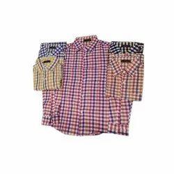 Checks Men Check Khadi Shirt