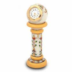 Ethnic Marble Table Clock Handicraft 145