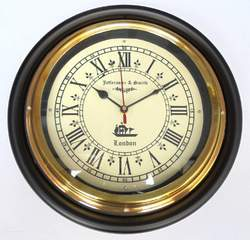 Vintage Wooden and Brass Wall Clock
