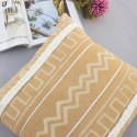 Tufted Batik Print Decorative Cushion Cover