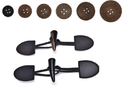 Cow / Calf Leather Buttons & Toggles