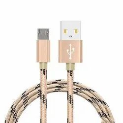 Nylon Braided USB Data Cable With Metal Housing