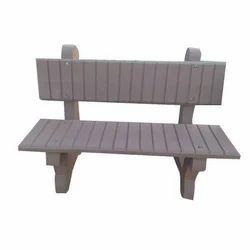 Grey Cement Garden Bench