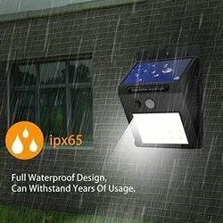 Solar Base Wall Light With Solar Panel & Motion Sensor