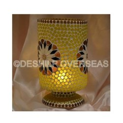 Yellow Mosaic Candle Holder