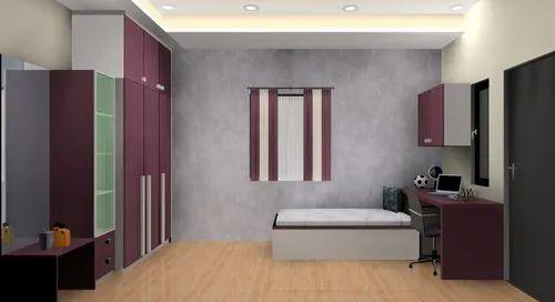 Wooden Purple Grey Modern Kids Bedroom Furniture Rs 95000 Set Id 22317907991