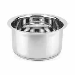 Silver Round Stainless Steel Rice Bowl, For Home