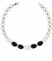 Labradorite & Turquoise Gemstone Chain Connectable Cushion Shape Square Bracelet
