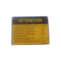 Aluminium Safety Sign Plate